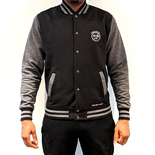 TRUSTS NO1 varsity jacket - Black