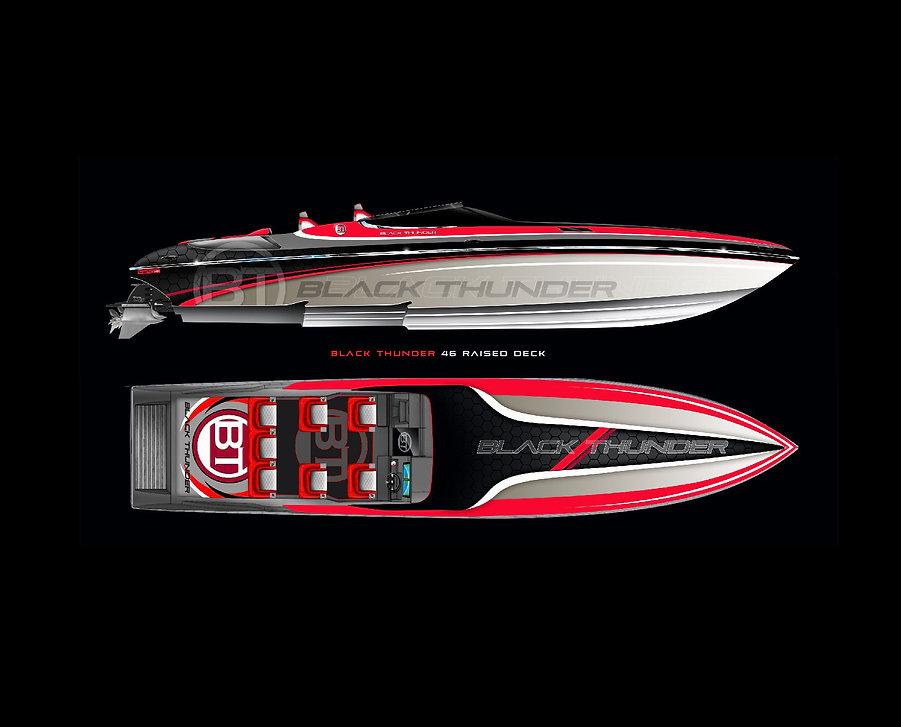 Black Thunder 46 Raised Deck Offshore