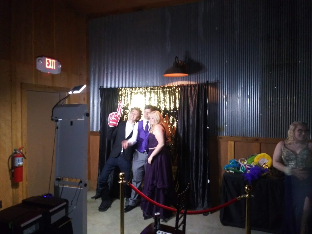 Gold back drop Photo Booth