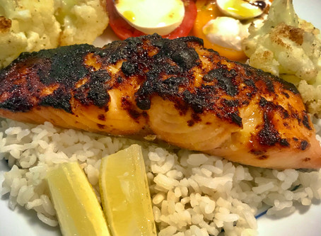 Miso-marinated salmon is sweet and savory
