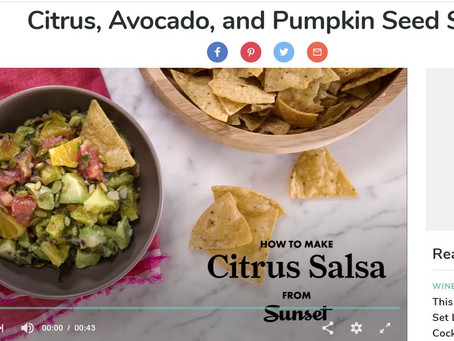 Citrus, Avocado, and Pumpkin Seed Salsa