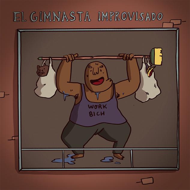 El gimnasta improvisado
