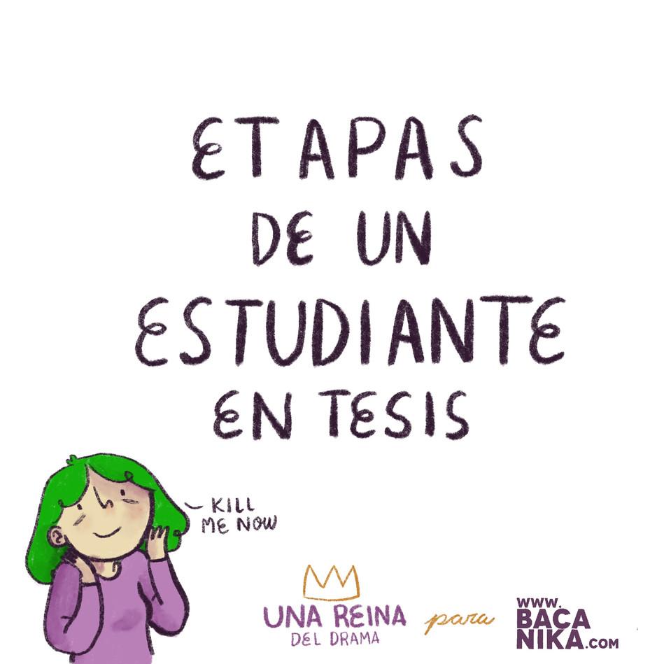 ETAPAS DE UN ESTUDIANTE EN TESIS
