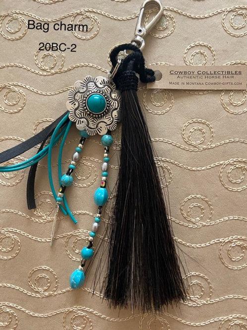 HORSE HAIR ITEM-Bag Charm (Medallion)
