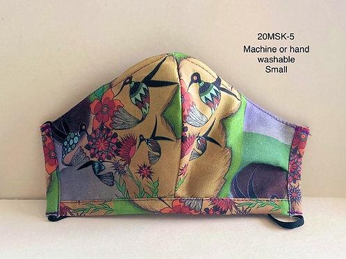 FACE MASK-Small size, Hummingbird design