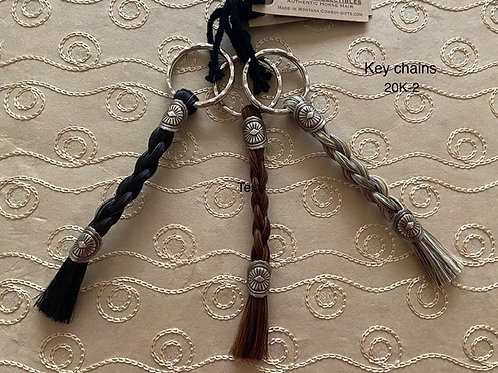 HORSE HAIR ITEM-Braided Key Chain (Solid Color)