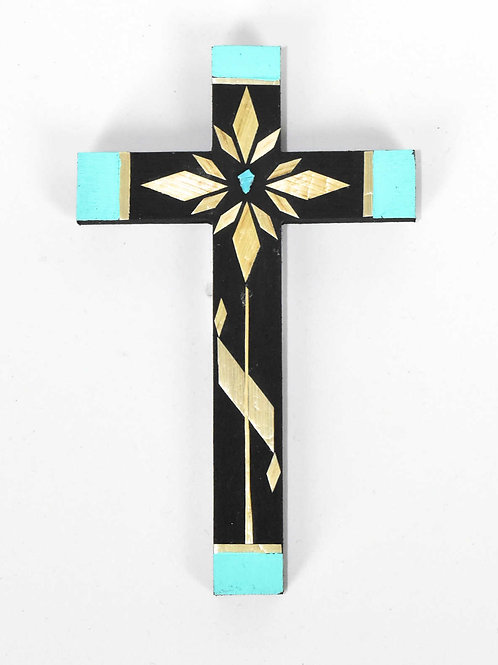 Cross-Straw Applique on Painted Wood (Small)