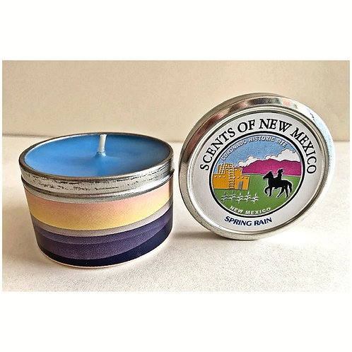 CANDLE-SPRING RAIN-Southwest scented candles in specially designed tins.