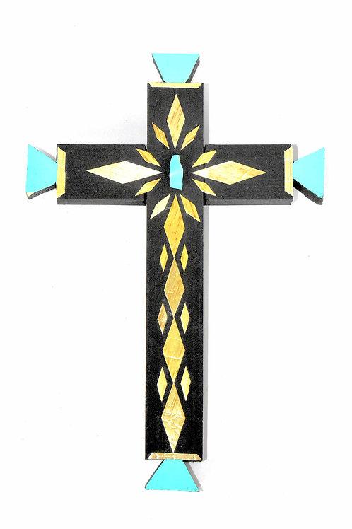 Cross-Straw Applique on Painted Wood (Medium)