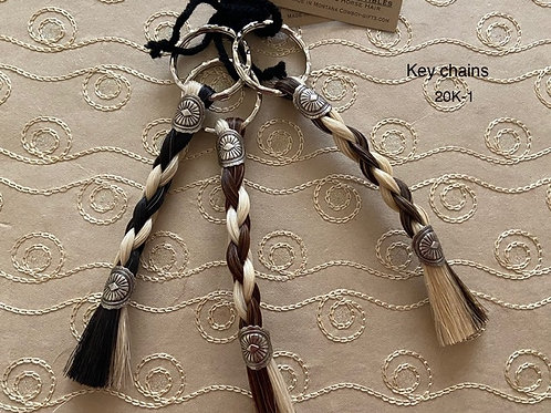 HORSE HAIR ITEM-Braided Key Chain (bi-color)