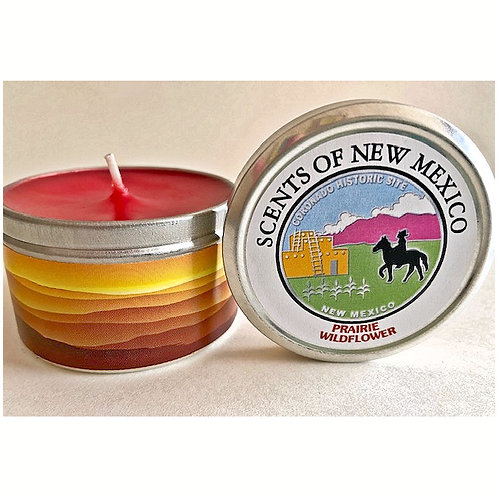 CANDLE-PRAIRIE WILDFLOWER-Southwest scented candles in specially designed tins.