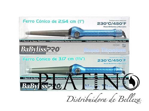 FERRO CÓNICO DE 3,17 Y 2,54CM BABYLISS PRO