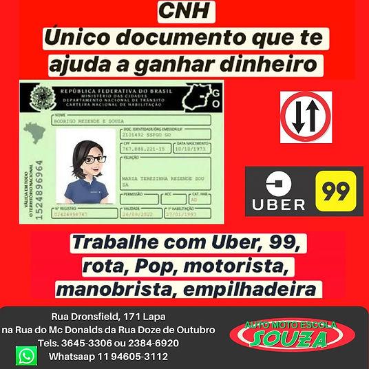 CNH uber 99 rota