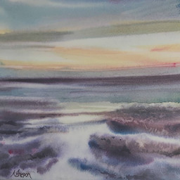 Sunset en Normandie
