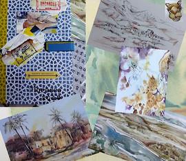 Collage de carnet de croquis