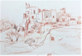Croquis du village rouge
