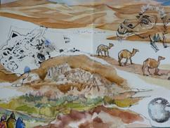 Desert Camels Sketch