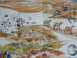 Croquis de chameaux du désert