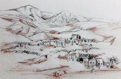Desert Village Sketch
