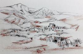 Croquis du village du désert