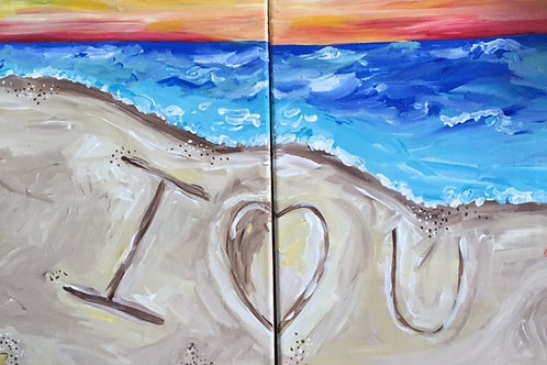 "Sat 7/29 PAINT NIGHT ""I Heart You Beach"""