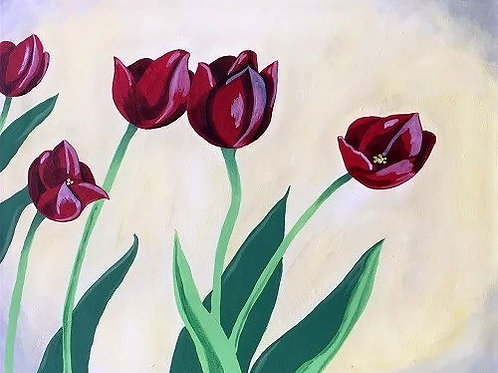 Saturday May 23 RED TULIPS