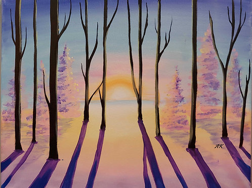 """*SOLD OUT* Friday, February 26 """"Solstice"""" Paint Night"""
