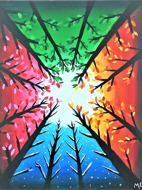 "**SOLD OUT** Friday, March 26 ""Four Seasons II"" Paint Night"