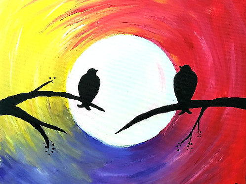 * SOLD OUT * Valentine's Day LOVE BIRDS