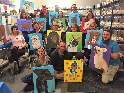 **SOLD OUT**Tuesday, May 14 6:00 Paint Your Pet Charity Event