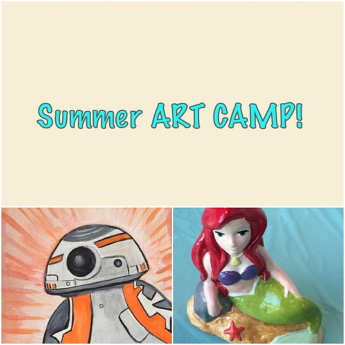 PM- Summer ART CAMP 6/28- 6/30 1:00- 4:00