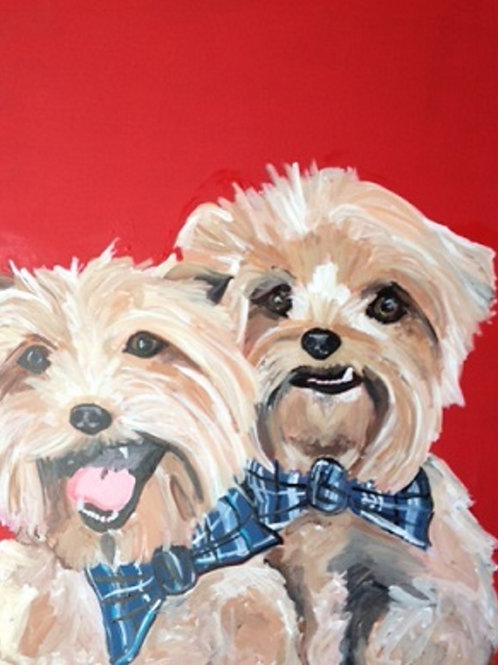 TWO Pet Portrait- starting at $95