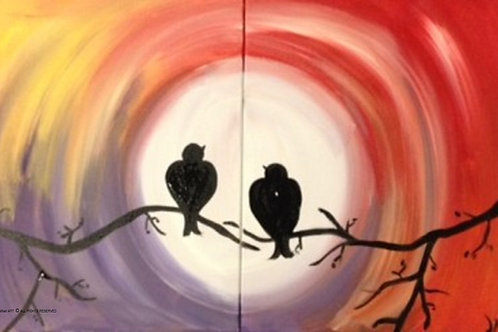 "Fri 9/8 Paint Night SPECIAL ""Love Birds"""