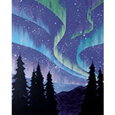 """Sat 8/5 SOLD OUT! """"Northern Lights"""" Paint Night"""