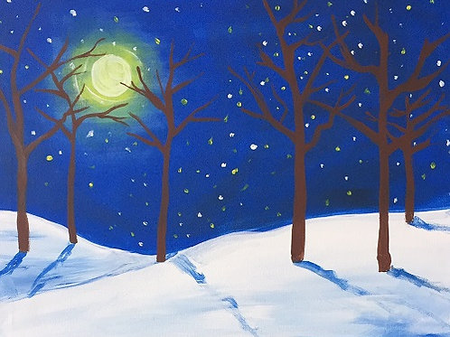"""Sat 9/23 Paint Night SPECIAL """"Winter Woods"""""""