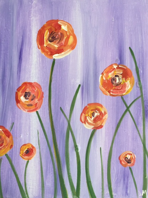 "Fri 8/18 ""Spring Poppies"" Paint Night-Special!"