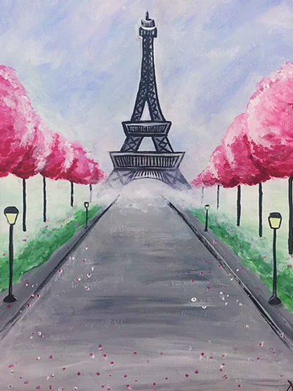 "Friday, April 23 ""Paris in Spring"" Paint Night"