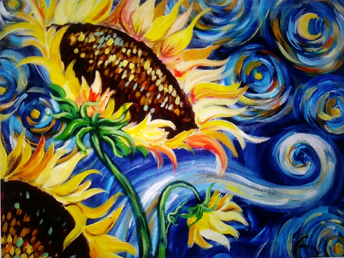 **SOLD OUT** Van Gogh's Sunflower-Friday, March 22 6:30