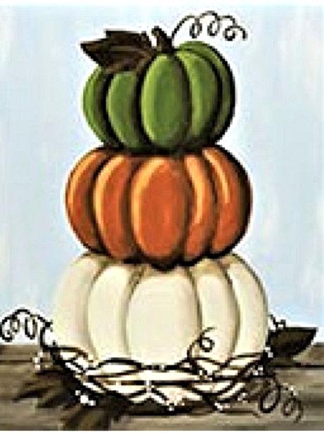Friday Nov 22 Stacked Pumpkins