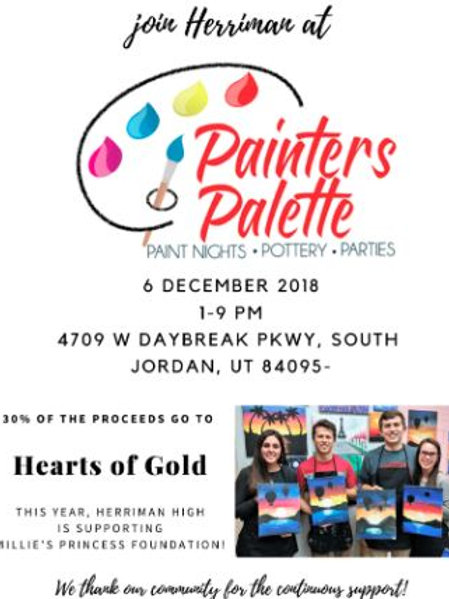 Thursday December 6 HEARTS OF GOLD FUNDRAISER