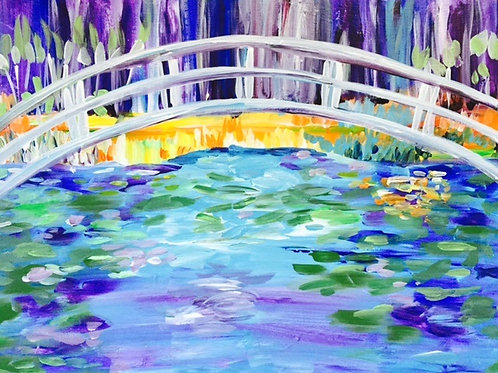 "Sat 9/9 Paint Night SPECIAL ""Japanese Bridge"""