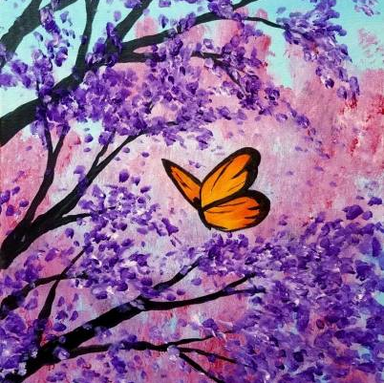 Butterfly With Flowers.png