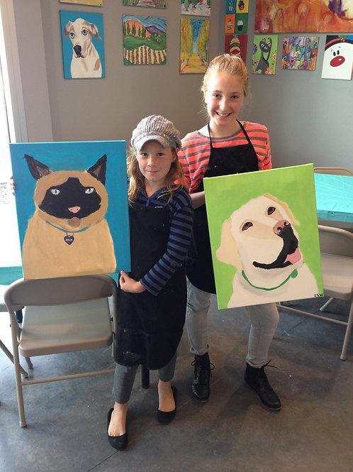 CLASS CLOSED-Sat. 6/27 KIDS ONLY Paint Your Pet!