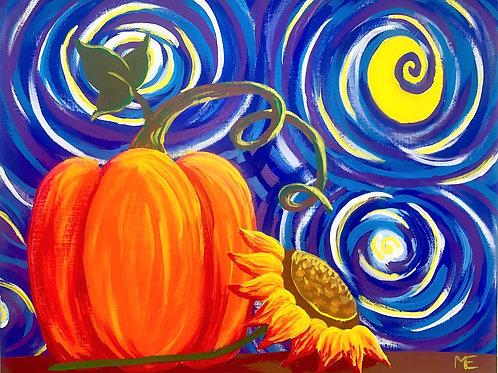Friday October 25 Starry Pumpkin