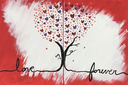 "Weds 7/12 PAINT NIGHT ""Love Forever"""