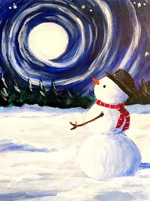*Only 1 seat left* Saturday December 28 Moonlit Snowman