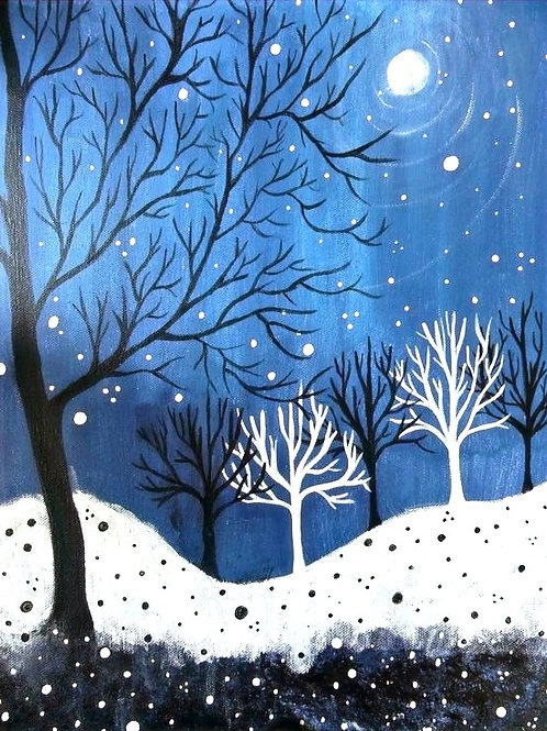 Saturday December 21 Snowy Night