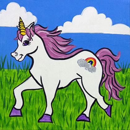 "Sat 5/13 Kids/ Family Paint! ""Unicorn Fields"""