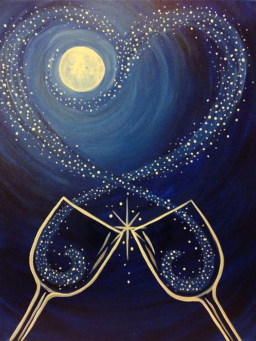 Sat 12/30 Paint Night- HALF PRICED New Years Deal!