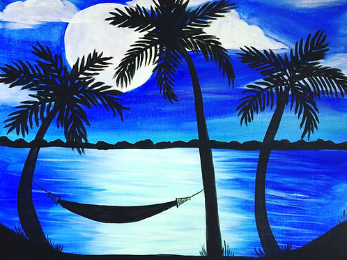 "Weds 8/2 ""Blue Hawaii"" Paint Night- Special"